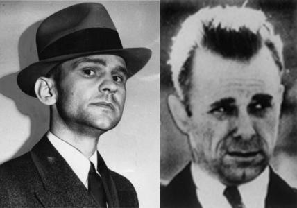 Melvin Purvis (left) & John Dillinger (right) - not quite Christian Bale and Johnny Depp, huh?