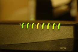 Glowing Yellow and Green indicator LED lights