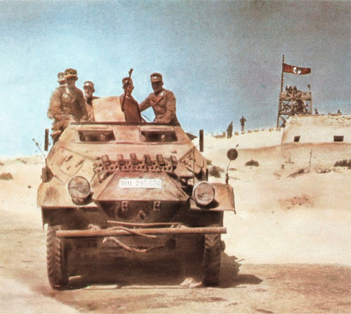 German troops in Egypt, 1941. The film is a off by a little bit...