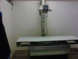 X-Ray machine - there is also a screen so the nuerosurgeon can guide in the needle.