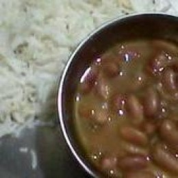 Rajma and basmati rice
