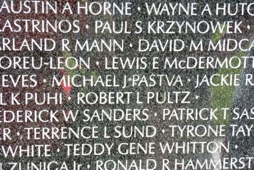Photo of name of fallen soldier that I grew up with.