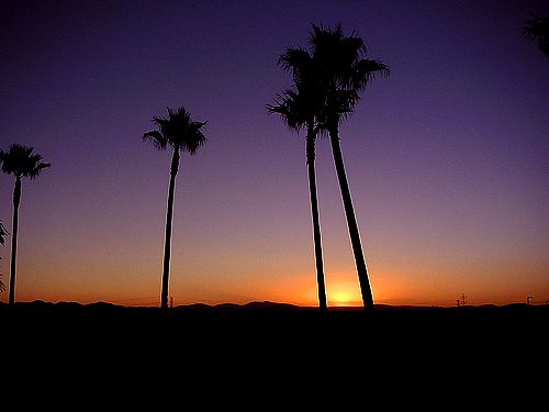 Experience beautiful sunsets in Orange County.
