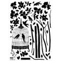 Parisian Spring Bird in Tree Silhouette