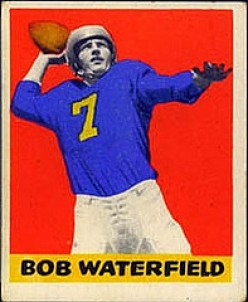 This is a unique and highly sought after card with the red background. It has been placed in the top 10 most collectible football cards.