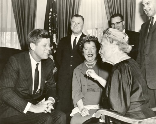 Helen meeting with President Kennedy.