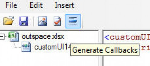 Generate a callback in the Custom UI Editor