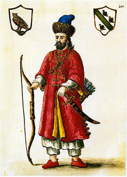 Marco Polo en costume tartare.