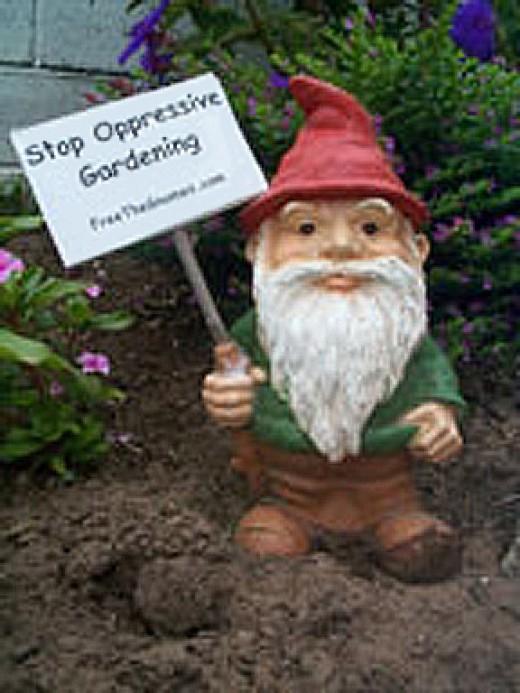 Protest Garden Gnome...