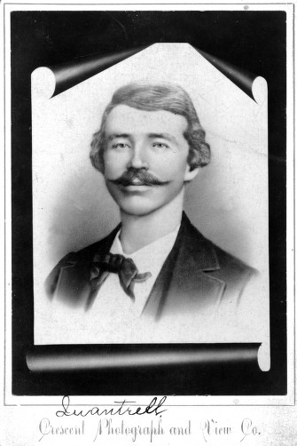 Studio portrait of William Clarke Quantrill, infamous Civil War guerrilla
