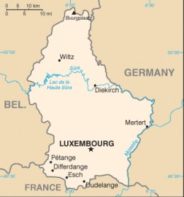 Map of Luxembourg