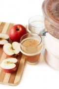 Always Make Fresh Apple Juice, not bottled or sweetened