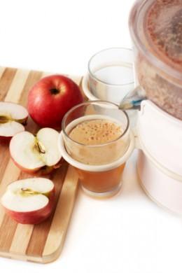 Always Make Fresh Apple Juice, not bottled or sweetened