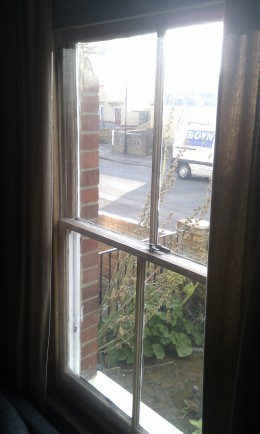 One of our draughty sash windows