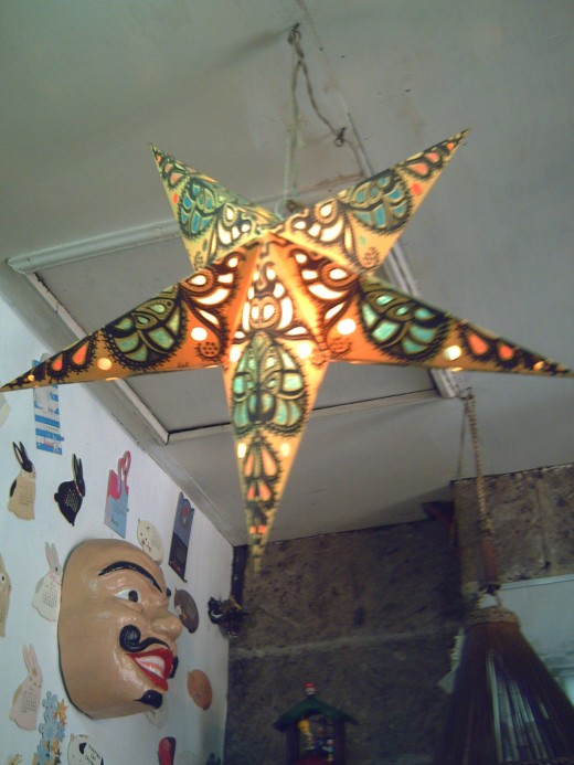 Star Lantern made from recycled paper