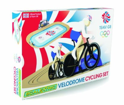 Fancy racing around the boards like the cyclists at  London 2012 Olympics? You can do it at home too with Scalextric