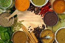 Indian herbs and spices.