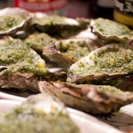 Oysters Rockefeller are a famous dish from Antoines In New Orleans. President Roosevelt had Oysters Rockefeller in 1937 at Antoines.
