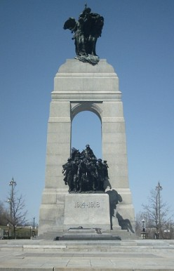 The National War Memorial in Confederation Square, downtown Ottawa