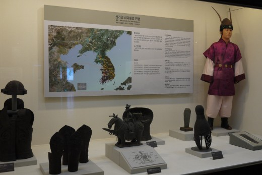 Many artifacts in the exhibits have descriptions in English