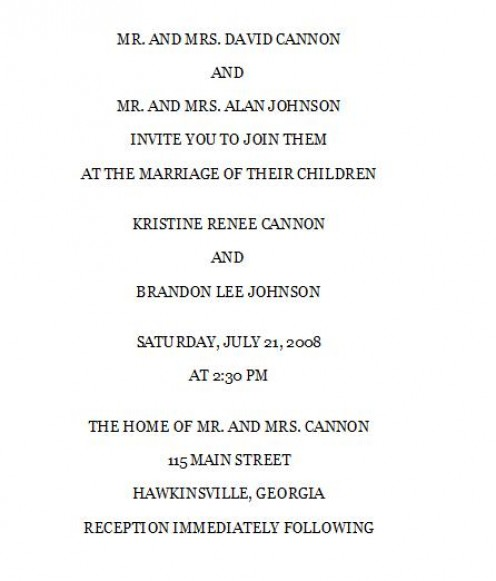 Invitation Wording For Wedding Couple Hosting: How To Word Your Wedding Invitations