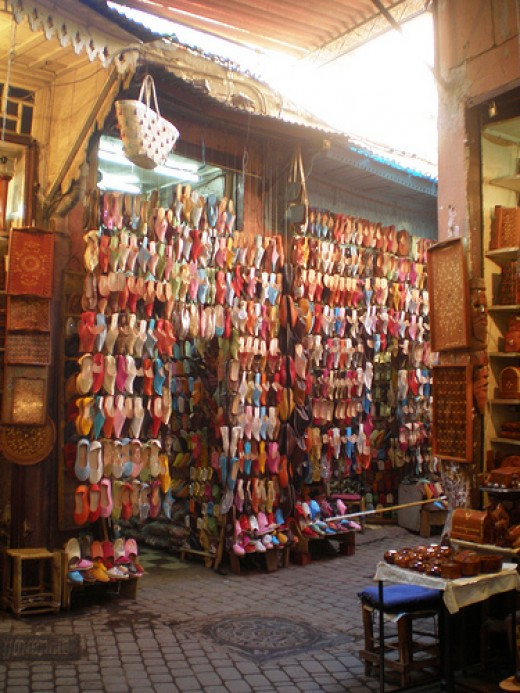 Fancy some new shoes? Babouches for sale in the souks of marrakech