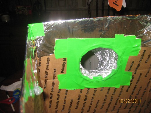 Insdie of the box where arm is attached