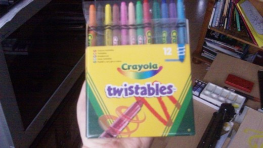 Twistable pencils from Crayola. Colored pencils for sketching and coloring.