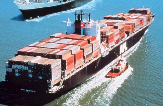 Overloaded Cargo Ships With Goods From China