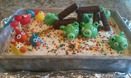 How To Make An Angry Birds Fondant Birthday Cake