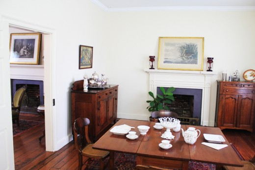 The Keller family dining room, complete with original china (china which Helen use to throw during temper tantrums) ©MBG