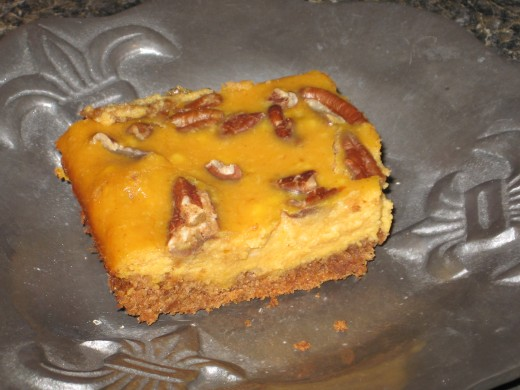 These pumpkin bars are delicious!