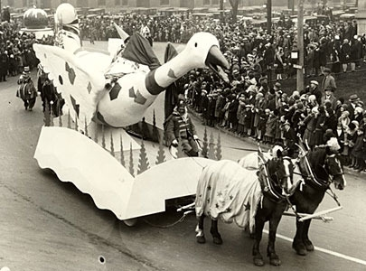 Mother Goose float from the 1930 Toronto Santa Claus Parade