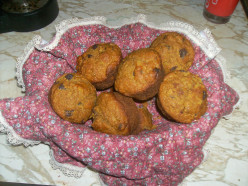 Easy, Healthy Pumpkin and Wheat Chocolate Chip Muffins Recipe