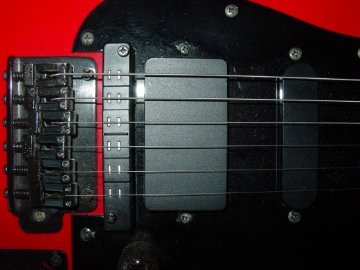 Hexaphonic Pickup Detail, pairs of elements shown