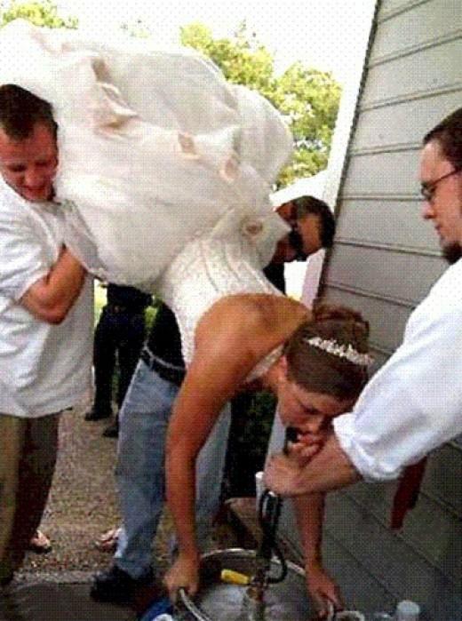 Guzzling Bride