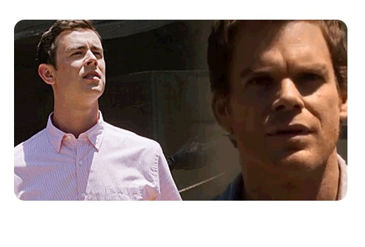 Dexter's elation when he first learns of the horsemen scene was mirrored while Travis stands by while his one-night stand is brutally executed.