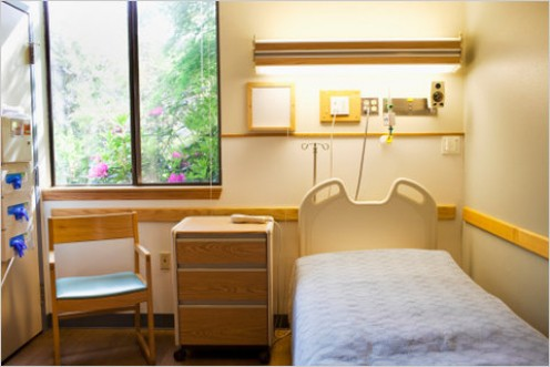 THIS IS A REAL HOSPITAL ROOM. GREAT, HUH? IT REMINDS ME OF A HOLIDAY INN EXPRESS ROOM WITH ITS GREAT TV, SOFT BED, RELAXING ATMOSPHERE.