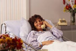 TALKING TO FRIENDS ON THE TELEPHONE IS JUST ONE OF THE PERKS OF BEING SICK.