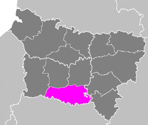 Map location of the 'arrondissement' of Senlis