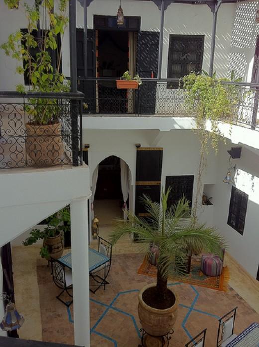 Inside Dar Kiki Riad Marrakech