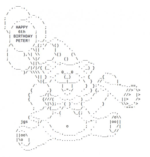 Cake Ascii Art : Happy Birthday ASCII Text Art hubpages