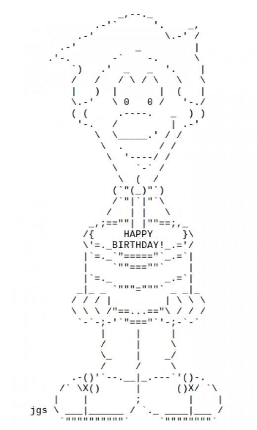 Birthday Cake Ascii Art Facebook : The most beautiful wedding rings: Ascii art wedding ring
