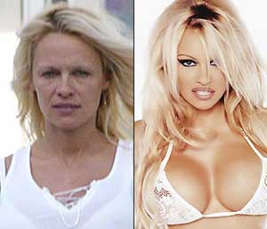 Pamela Anderson never looked like this on Baywatch!