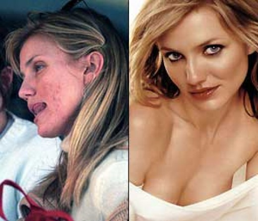 Cameron Diaz is still recognizable without her makeup.