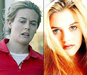 Alicia Silverstone misses out on  those great girl next door looks minus the makeup