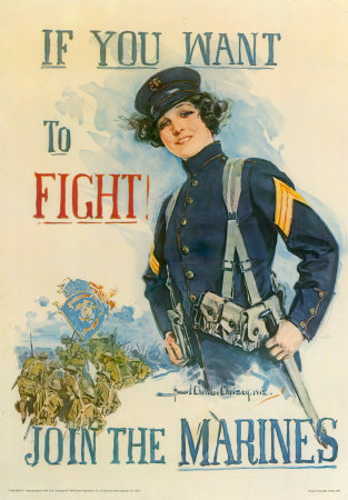 If You Want to Fight, Join the Marines!, by Howard Chandler Christy