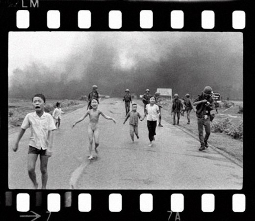 photograph taken by AP photographer Nick Ut on June 8, 1972 - Trang Bang, Vietnam