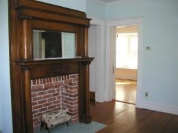 Looking towards dining room through doorway we created