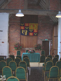 Moseley Old Hall Barn Interior